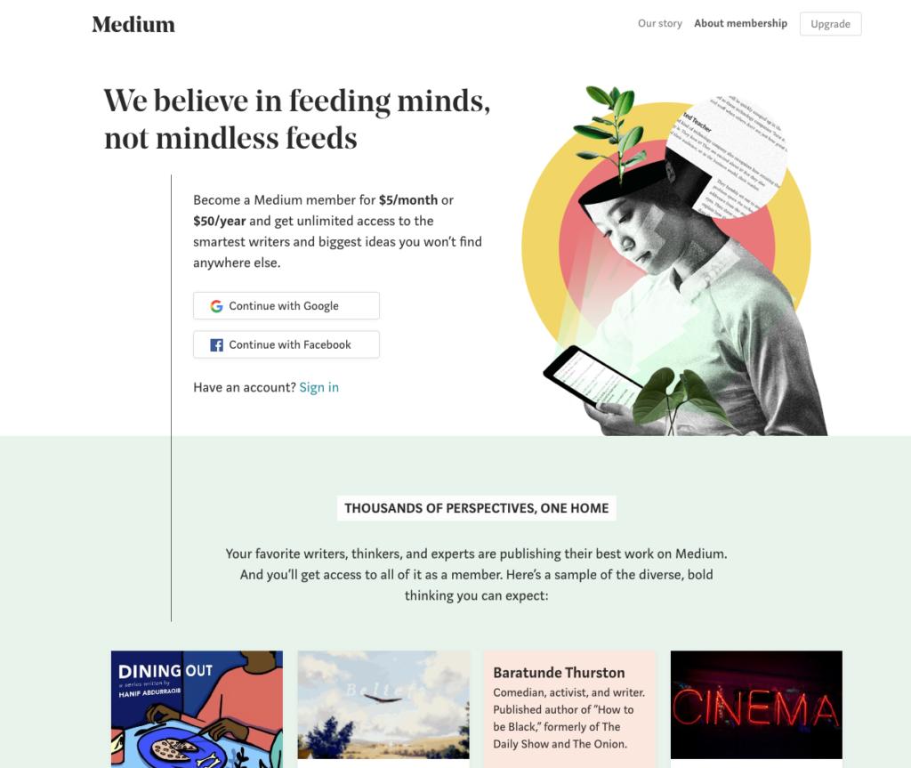 medium for free blogging