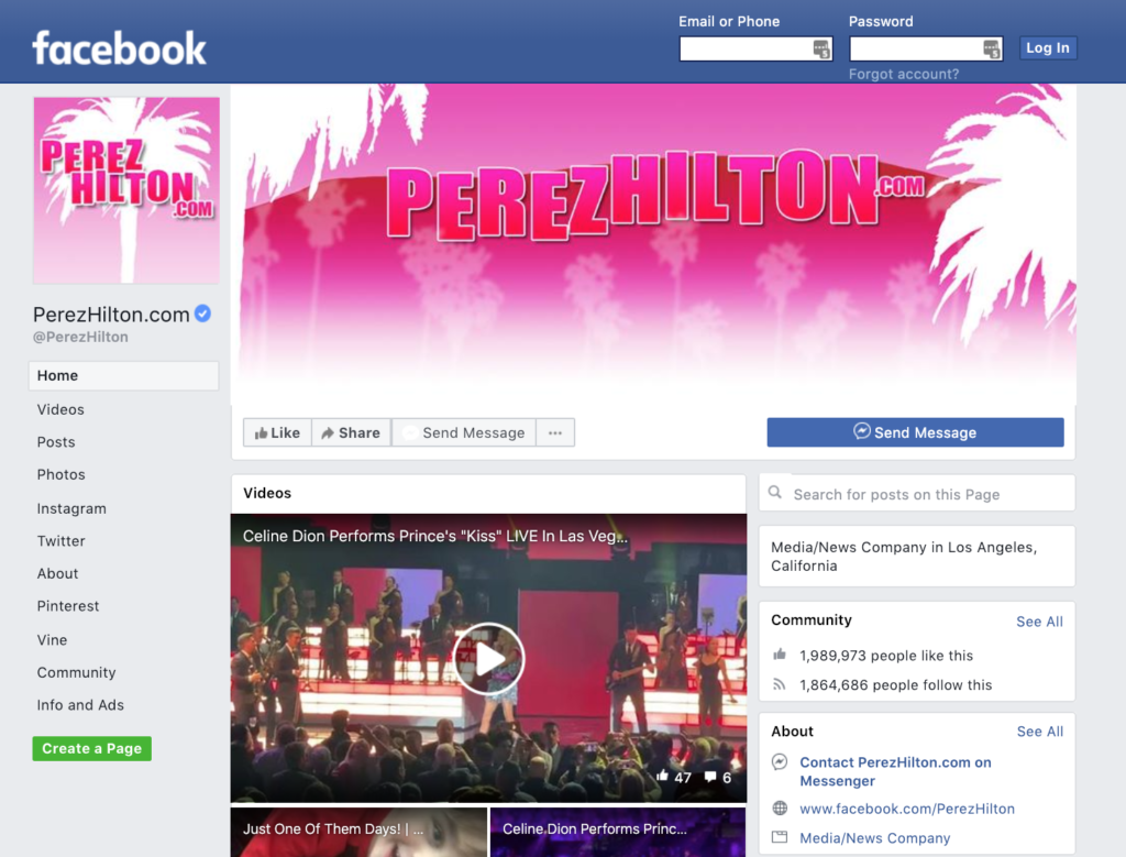 facebook page as a free blog